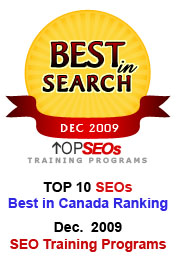 Training Program Awards, SEO 7 Services is a search engine optimization consulting firm based in Montreal, Canada